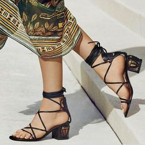Valentino Tribe gladiator mask lace-up sandal 39.5